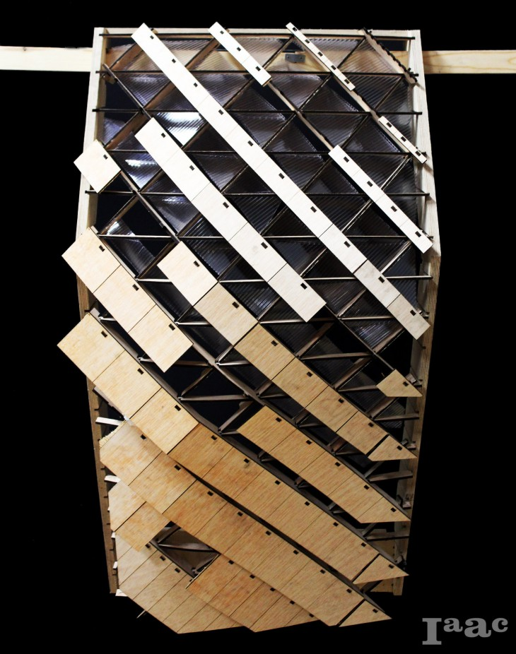 Iaac_Digital Fabrication - Tri-Axial 'waffle'