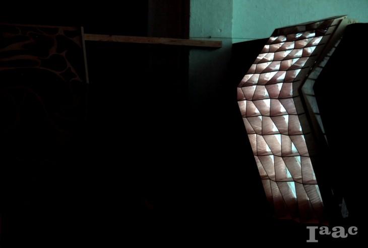 bearing facade, compound structure, digital fabrication, Ekaterina Simakova, energy optimization, filtered light, lasercut, Maria-Klairi Chartsia, milling, parametric facade, Peter Geelmuyden Magnus, Sidharth Kumar