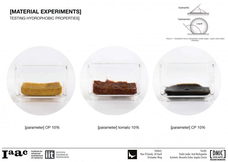 IAAC_Piel Vivo_9_Material Experiments Hydrophobic