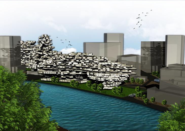 View of Metropolis from Passaic River