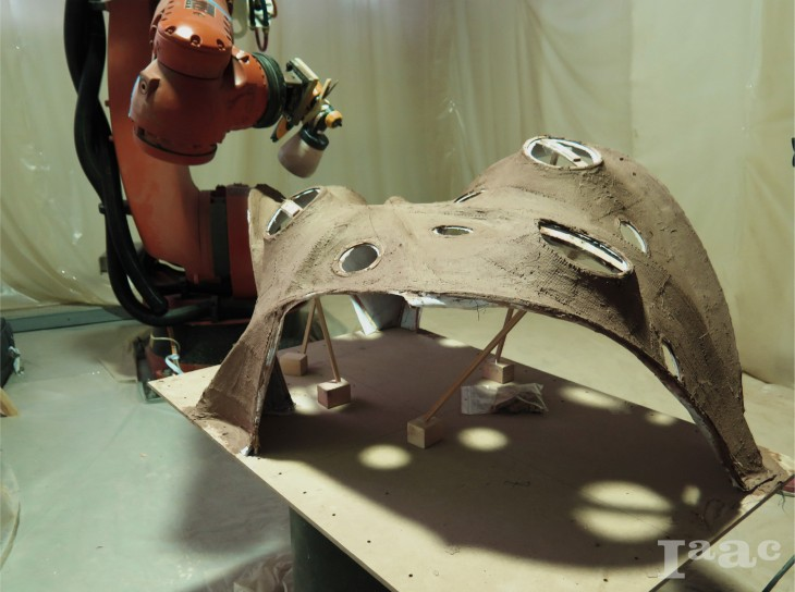 IAAC - ROBOTICALLY FABRICATED MUDSHELL - Image 0
