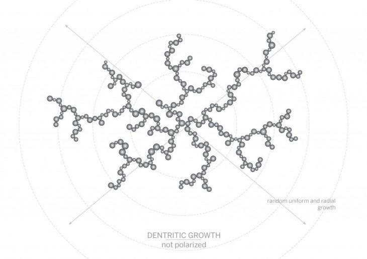 non polarized crystals growth