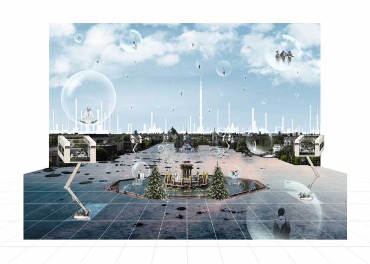 iaac-student-juan-diego-ramirez-leon-proposes-a-tabula-rasa-for-the-territory-of-vdnkh-in-a-future-where-the-space-is-populated-by-floating-tranquil-spaces-projected-upon-a-densified-moscow