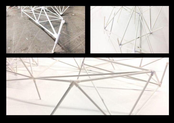 Assembly - Foggy Spaceframe / Digital Fabrication IAAC