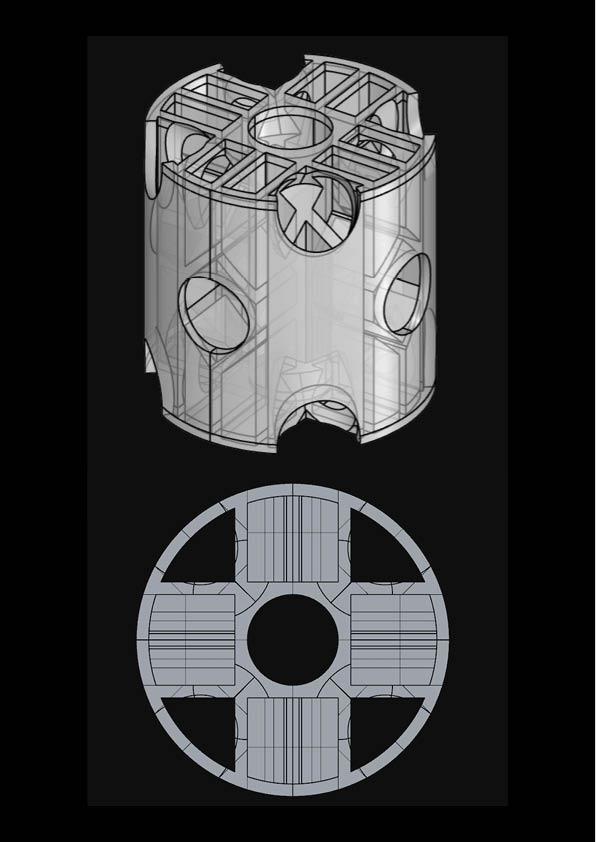 Prototype 1 - model - Foggy Spaceframe / Digital Fabrication IAAC
