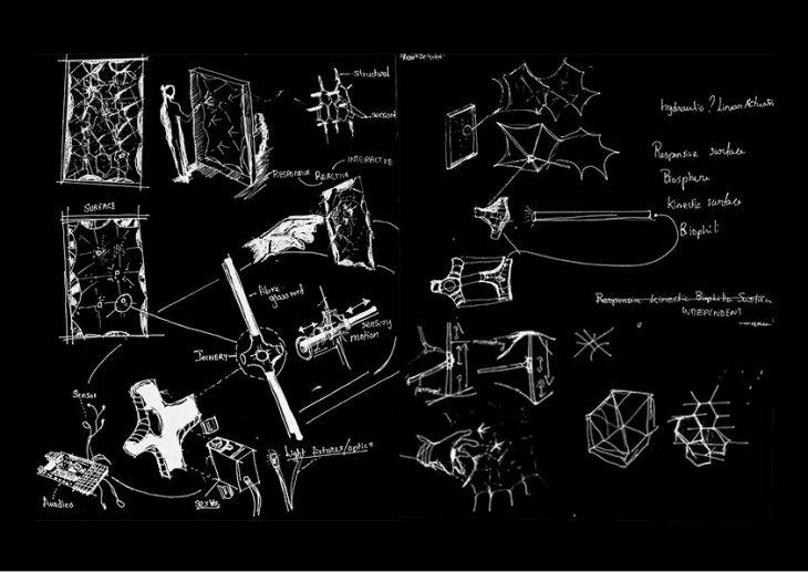 Sketch - Foggy Spaceframe / Digital Fabrication IAAC