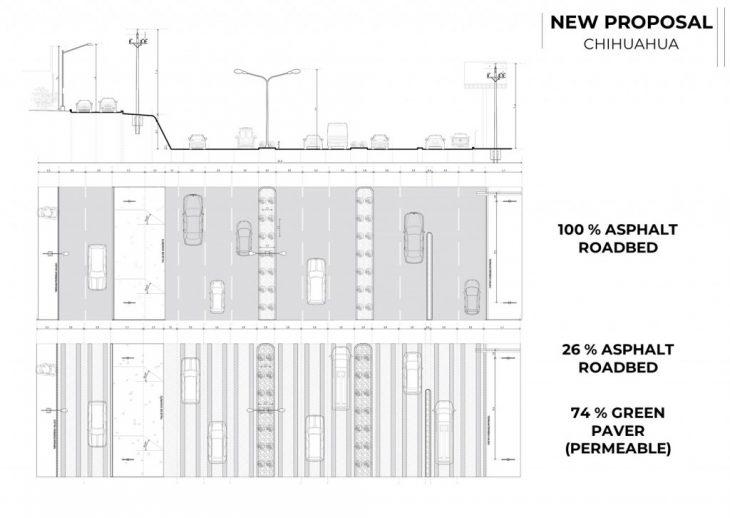 Chihuahua Future Street Section