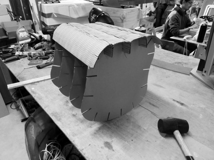 lasercut cardboard assembly