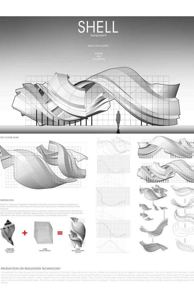 Transparent Shell Pavilion Pone Architecture