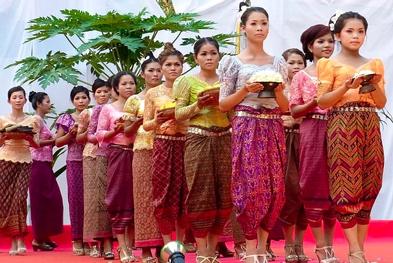 The silk festival , silk sarees,