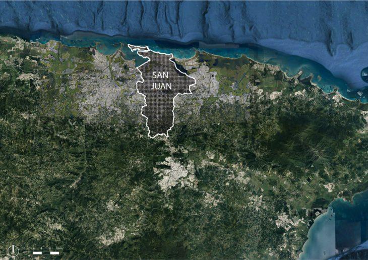 San Juan, master in city and technology, ubication, urban analysis