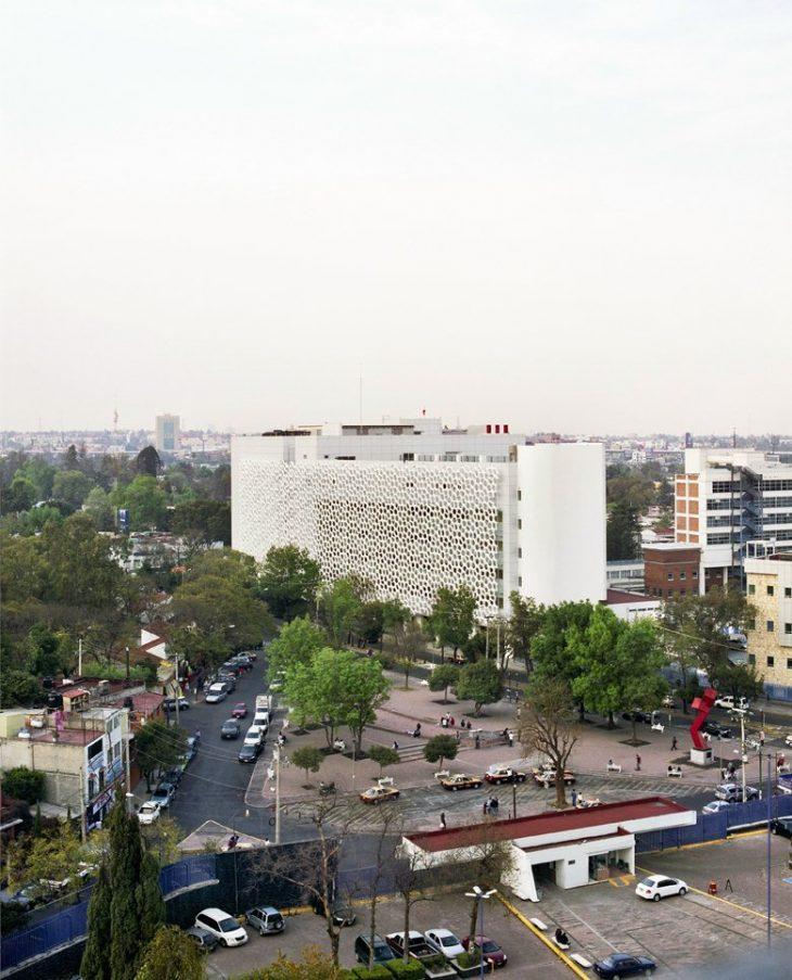 Hospital Manuel Gea González, facade, parametric, smog