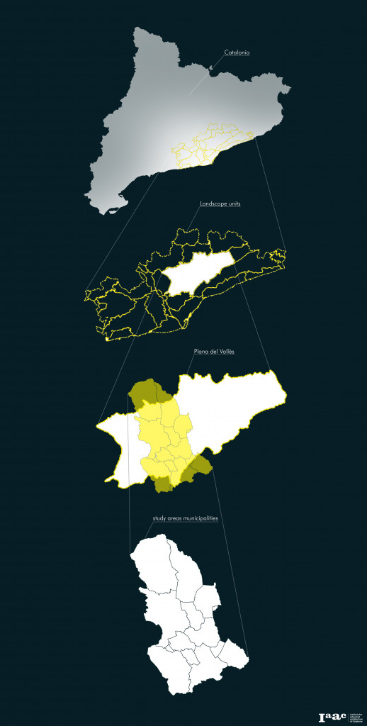 The objective of the present poster is the analysis of landuses trends as one of the most important indicators of changes in ecosystem, with particular reference to the spatial evolution of the cropsland. The study area is located in the plana del valles, up of Barcellona, and it's the result of a preliminary analysis that showed the high potential of this area in terms of ecological connectivity, using abandoned crops as opportunity to mend.