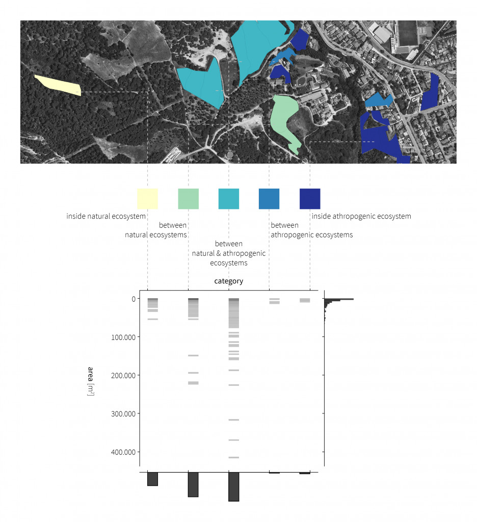 big data analysis, categorization, scatter graph, python, El Vallès, abandoned crops