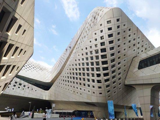 facade systems, parametric facade, zaha hadid, nanjing international youth centre