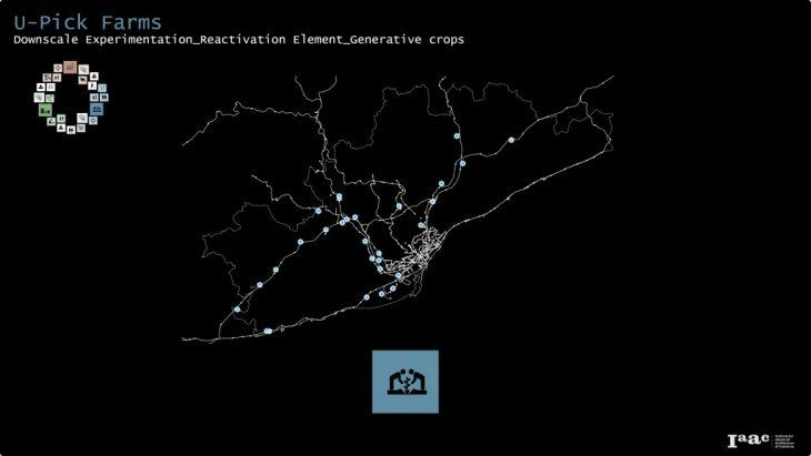 U-Pick Farms. Downscale experimentation, reactivation elment, generative crops