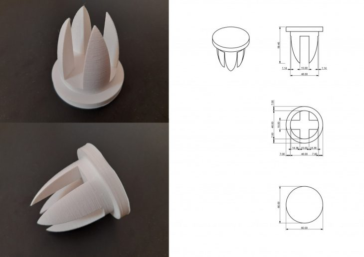 misilla, MAEBB, IAAC, Dafni Vakalopoulou, chair, 2020-2021, 3D printed joints, plywood