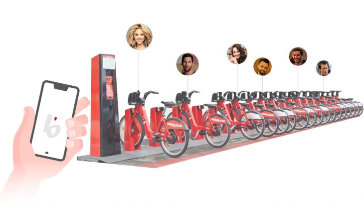 bicing station, celebrities, friends