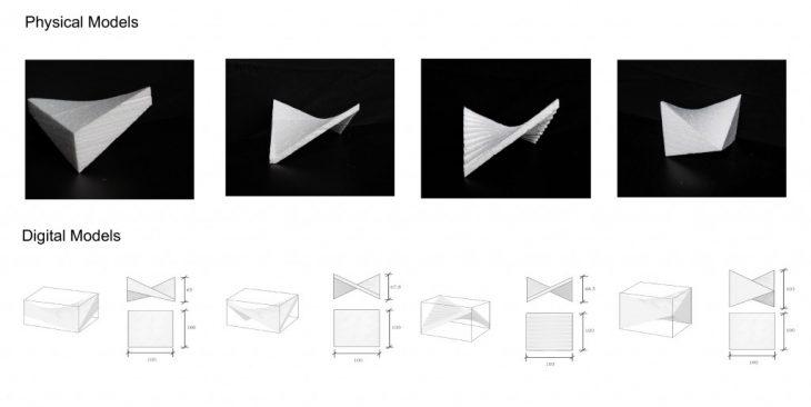 Frist Exploration of Fabricating Hyperbolic Paraboloid