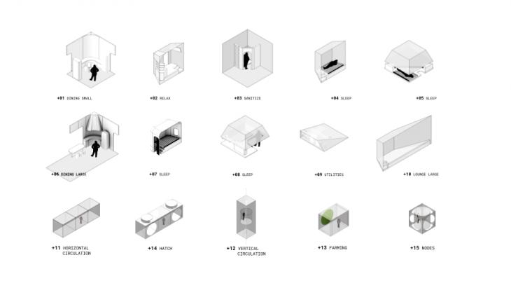 Hesham Shawqy, German, Marissa, Grasshopper3d, Aggregation, Rhinoceros3d, parametric design, generative design, residential, architecture, computational design.
